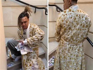 Lil Pump is a Real Pisser, Urinates On British Banknotes While in London