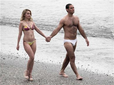 Jude Law Ditches His Papal Robes For Undies While Filming 'The New Pope'