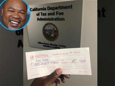 Xzibit Cuts Massive Check to Uncle Sam: 'PAY YOUR TAXES!'