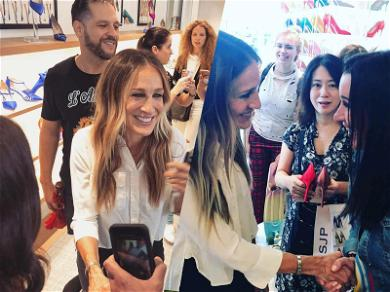 Sarah Jessica Parker All Smiles While Pushing Shoes, Despite Jewelry War