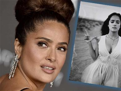 Salma Hayek Strip Teases Fans With Amazing Throwback Post: 'Dreaming Of Getting The Bra Off'