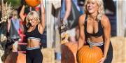 WWE Star Lana Gets in a Pumpkin Patch Workout