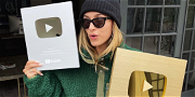 Hailey Bieber Receives Two YouTube Play Buttons!