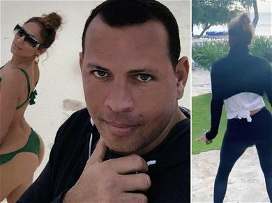 Jennifer Lopez Shakes Her Booty For A-Rod During Romantic Beach Vacation
