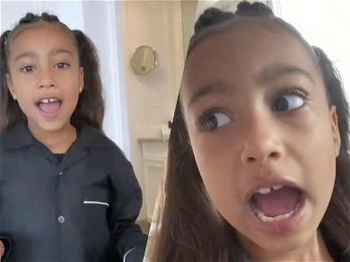 Too Cute! Kim Kardashian Shares Adorable Video Of North West Wishing Everyone A Happy New Year!
