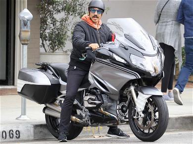 Anthony Kiedis Riding His Bike Around Los Angeles