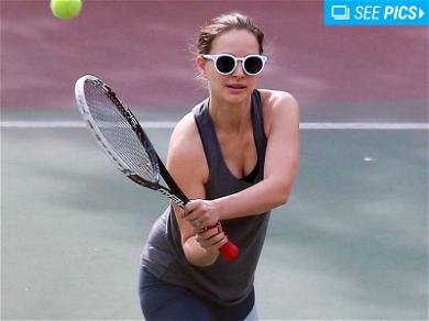 Natalie Portman Gets Schooled on the Court