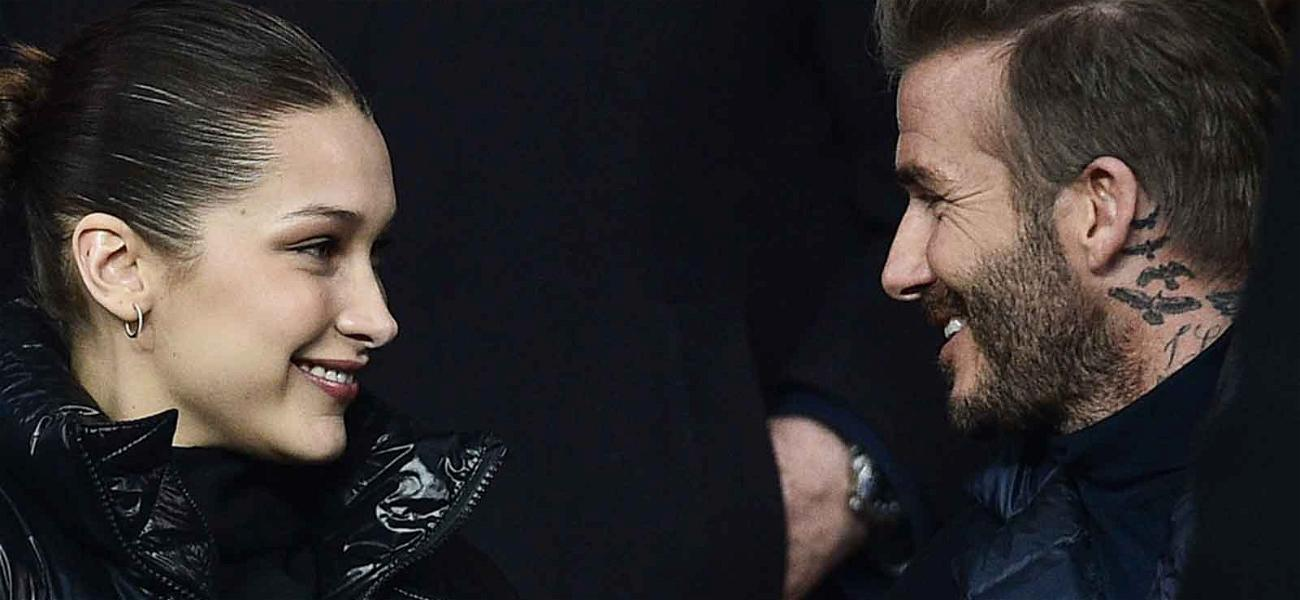David Beckham and Bella Hadid Bring the Hotness Factor to Soccer Match
