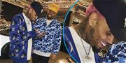 Chris Brown Shows Off His Newest Face Tattoos: Air Jordan Sneaker & Black Pyramid Symbol