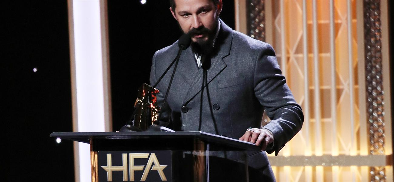 Shia LaBeouf gives thanks to Georgia police officer who arrested him two years ago, during a speech