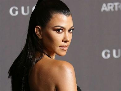 Kourtney Kardashian Epically Fails To Hide Ex Younes Bendjima In Seemingly-Naked New Year's Pic With Son Reign