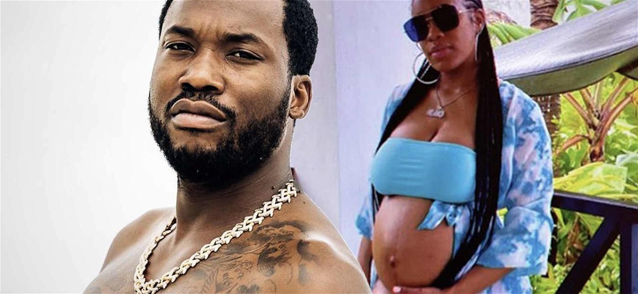 Meek Mill's Pregnant Girlfriend Puts Baby Bump On Display In Teeny Tiny Bikini