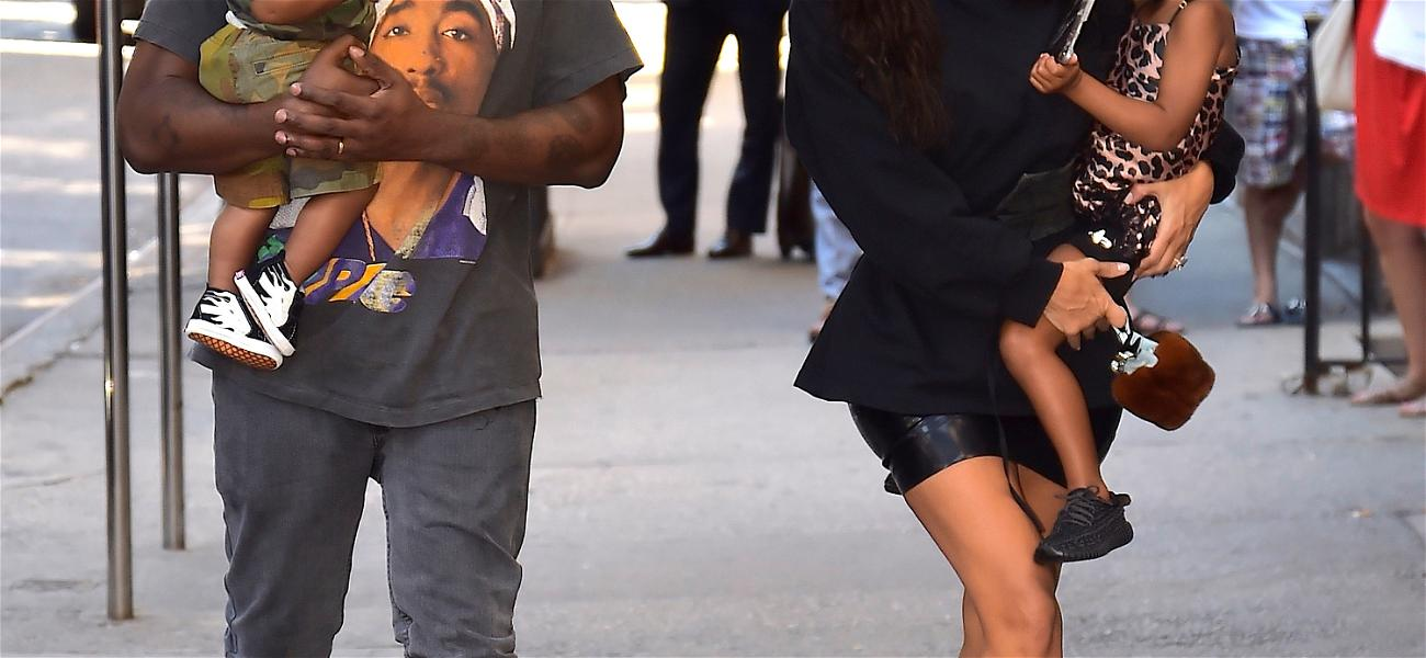 Kanye West Pulling Through as a Daddy