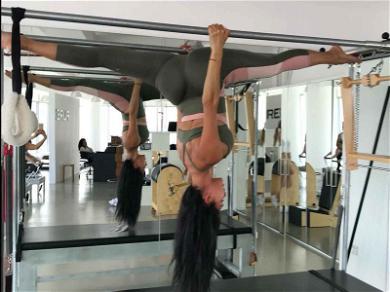 Nicole Scherzinger Defies Gravity With Upside Down Splits