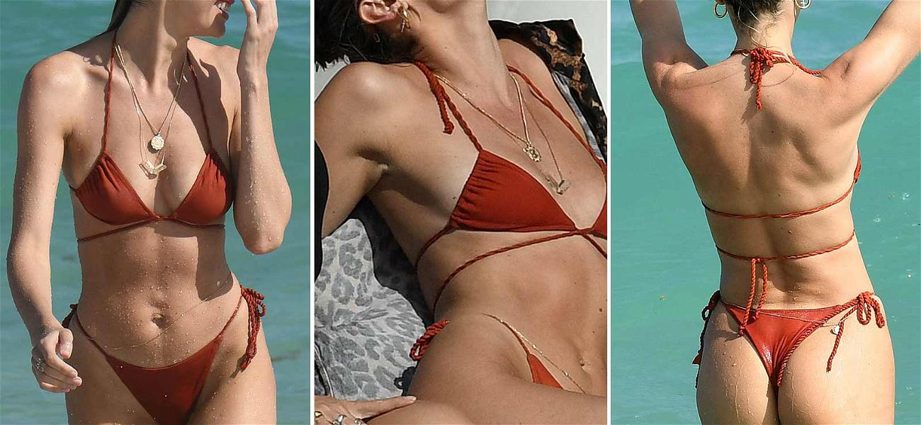 Candice Swanepoel is a Holiday Treat While Flaunting Mommy Curves in Itty Bitty Bikini