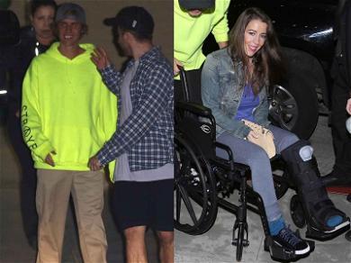 Justin Bieber Brings Injured Mom to Church
