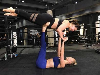 Karlie Kloss and Ashley Graham Show Off Strength By Playing Airplane