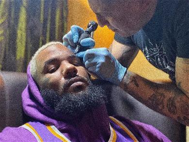 Rapper The Game Gets Giant Face Tattoo For Kobe Bryant: 'F O R E V E R'