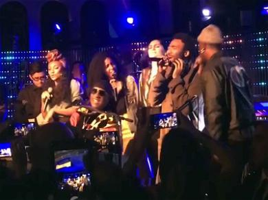 Donald Glover Performs With Stevie Wonder at His Birthday Party