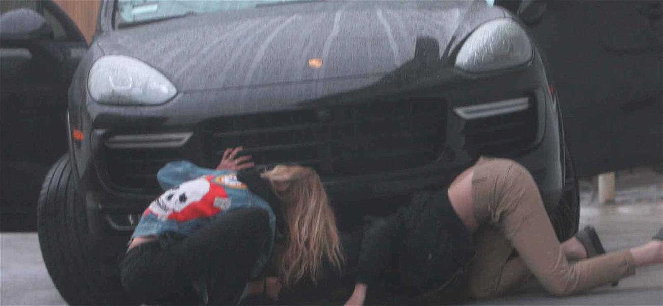 Kristen Stewart & Stella Maxwell On the Hunt for Lost Porsche Keys