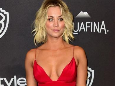 Kaley Cuoco Looks Drop-Dead Gorgeous Barefoot In Sweats After 'Very Salty' Pizza