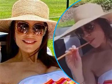 Bethenny Frankel, 50, Shows Off 'Unfiltered' Swimsuit Snap & Drinks Wine With A Straw