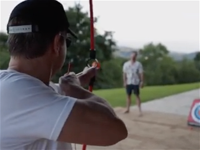 Bullseye! Chris Hemsworth Sticks It to Matt Damon During Archery Challenge