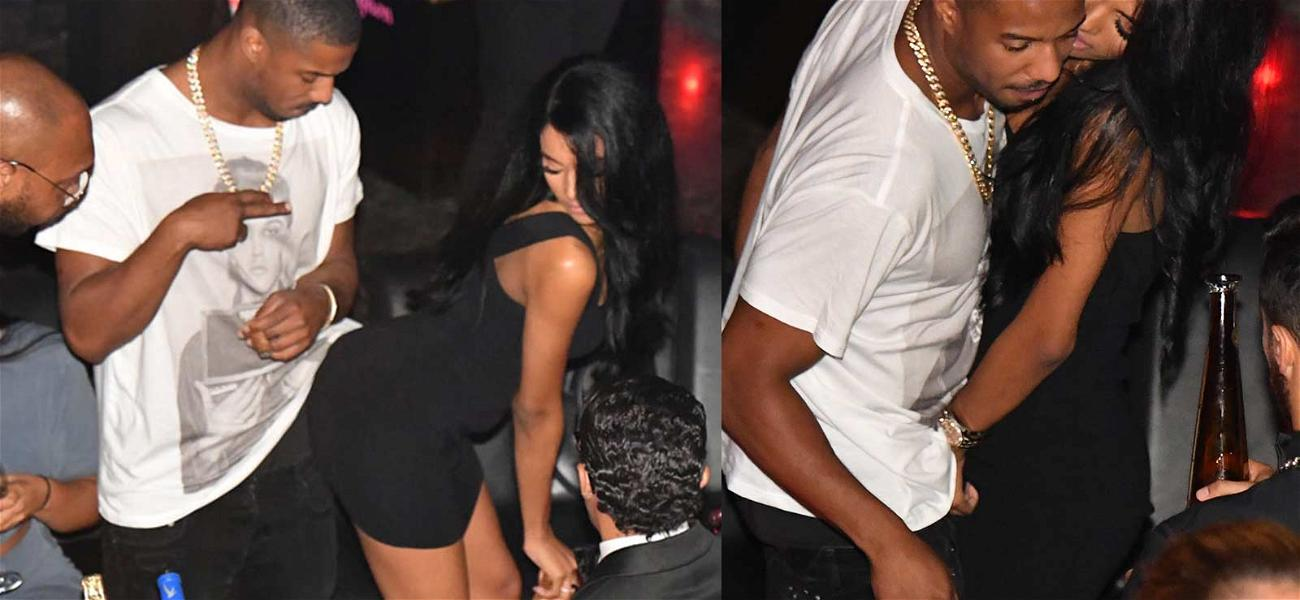 Michael B. Jordan Grinds All Up on Gorgeous (Lucky) Mystery Woman
