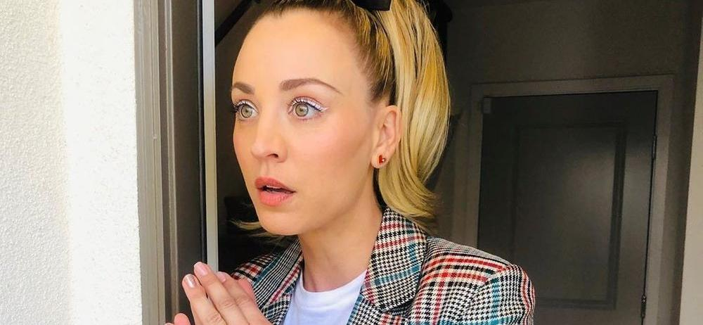 Kaley Cuoco Stuns In A Nightgown With The Rabbit Who Lives In Her Garage