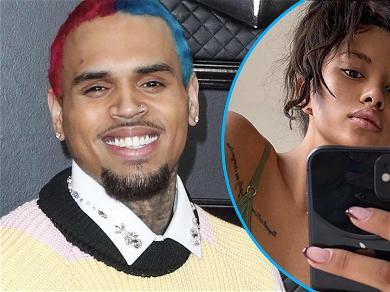 Chris Brown Gushes Over  Baby Mama Ammika Harris In Smoking Hot Tattoo Shot