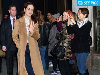 Michelle Dockery Surprises Fans at 'Downton Abbey' Exhibit