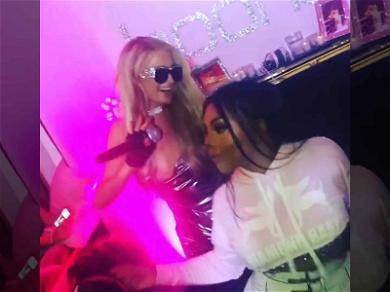 Paris Hilton Parties Hard with Lil Kim at Boohoo Event
