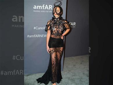 Model Megan Pormer Channels 'Maleficent' Vibes at amfAR Gala