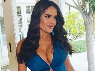 Salma Hayek Lays In Bed Naked In Throwback Photo