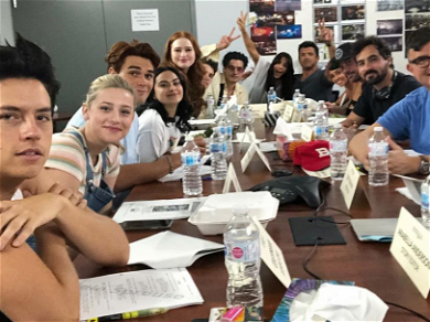 'Riverdale' Cast Documents Table Read For Episode That Will Address Luke Perry's Death