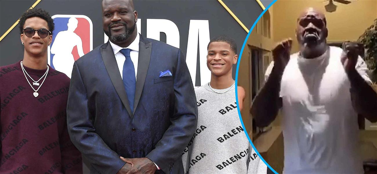 Shaq 'Leans wit It, Rocks wit It' During Viral Dance With Sons Shareef & Shaqir, Challenges NBA Players