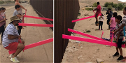 Teeter-Totters at US-Mexico Border Allowed Children to Play Through Fence