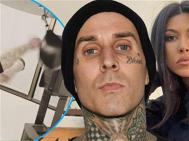 Travis Barker Shows Off Incredible Hand Speed After Spending V-Day With Kourtney Kardashian