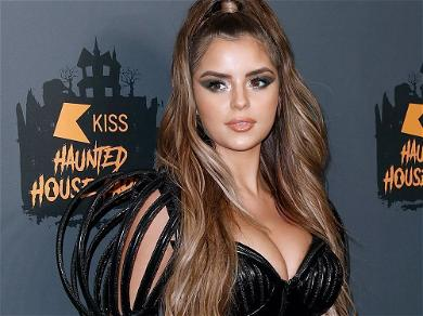 Demi Rose Lets It All Hang Out In Open Jacket With No Shirt