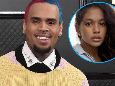Chris Brown Calls Ammika Harris 'Mine' In Steamy No Bra Shot