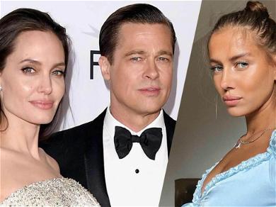 Brad Pitt's 27-Year-Old Girlfriend Nicole All Smiles Amid Angelina Jolie Court Battle
