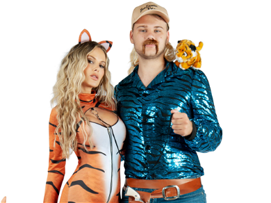 'Tiger King' Joe Exotic & His Tigers Are This Year's Coolest Halloween Costumes — See The Photos!!