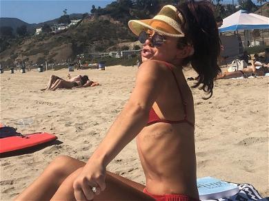 Sarah Hyland Suffers X-Rated Bikini Wardrobe Malfunction On Mexico Beach