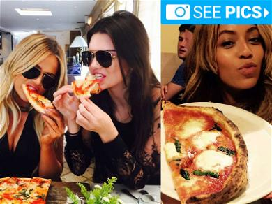 Celebs Wolfin' Down on Pies for Pizza Month