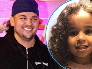 Rob Kardashian Shares Adorable Pic Of Daughter Dream In Chic Animal Print Outfit