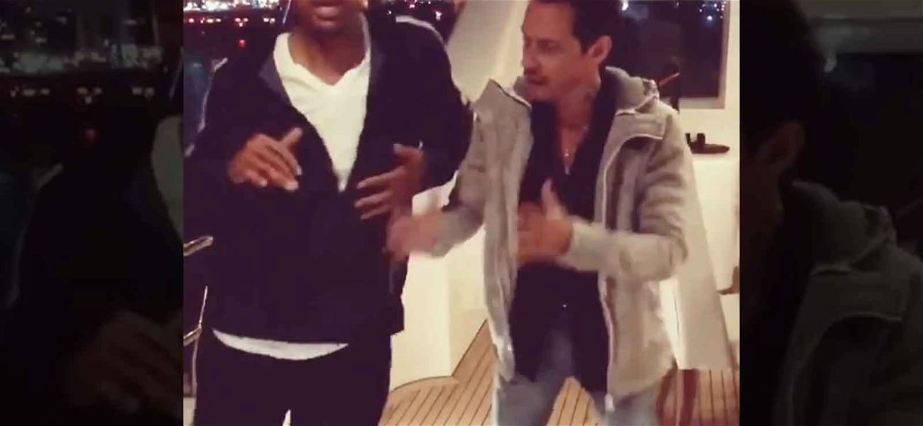 Will Smith Takes Salsa Lesson from Marc Anthony Because He Doesn't Have Non-Famous Friends