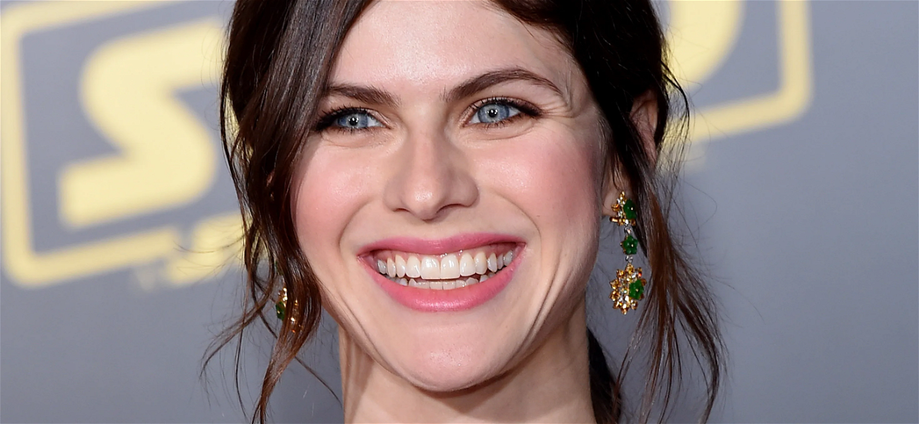 Alexandra Daddario Gets The Giggles With Pants Around Ankles
