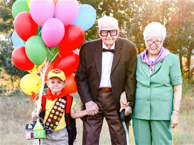 Boy Creates Heartwarming 'Up' Photoshoot With 90-Year-Old Great-Grandparents