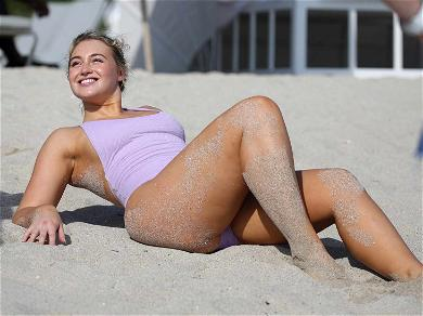 Iskra Lawrence Puts the Motion in the Ocean During Sexy Beach Shoot