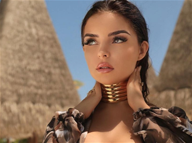 Demi Rose BURSTS Out Of Unzipped Mini-Dress With No Visible Undies